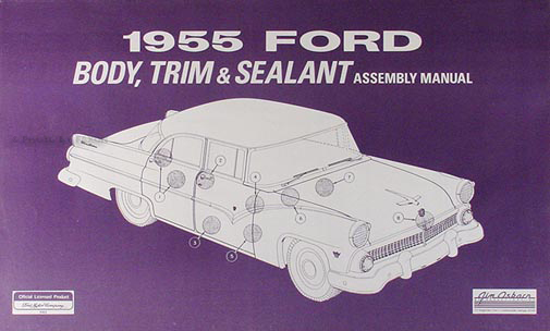 1955 Ford Car Thunderbird Wiring Diagram Manual Reprint