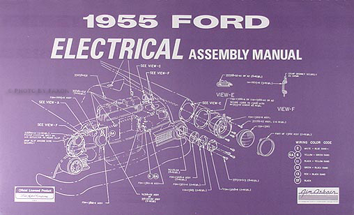 1955 Ford Car Electrical Reprint Assembly Manual