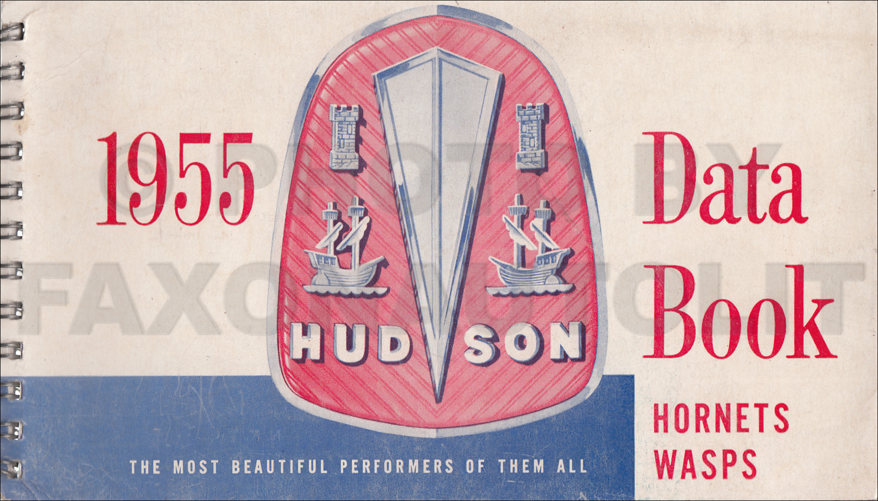 1955 Hudson Hornet and Wasp Data Book Original