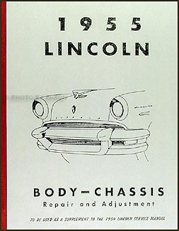 1955 Lincoln Repair Manual Reprint Supplement