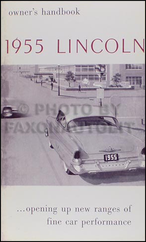 1955 Lincoln Capri and Premiere Owner's Manual Reprint