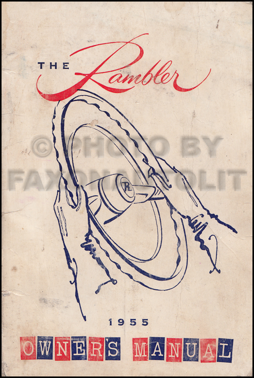 1955 Nash Rambler Owner's Manual Original
