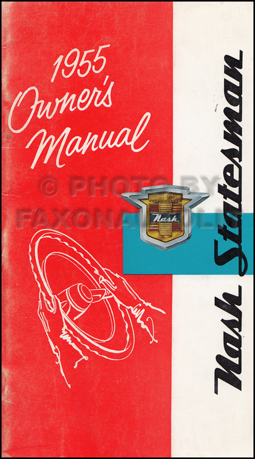 1955 Nash Statesman Owner's Manual Original
