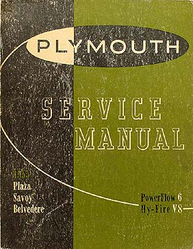 1955 Plymouth Shop Manual Original 55