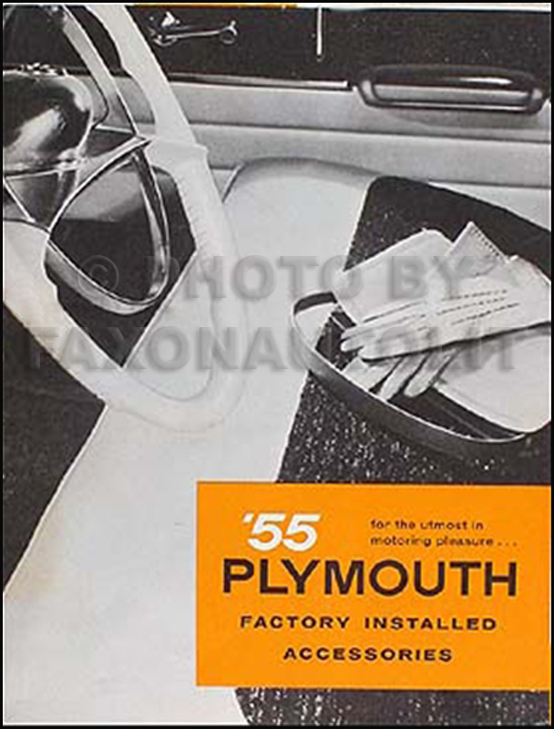 1955 Plymouth Accessories Sales Brochure Original
