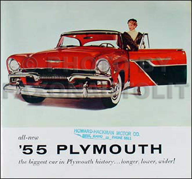 1955 Plymouth Original Sales Literature