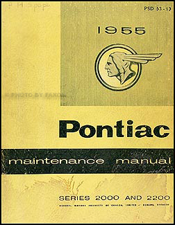 1955 Pontiac Shop Manual Original Canadian Series 2000-2200