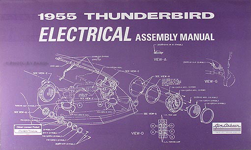 1955 Ford Thunderbird Electrical embly Manual Reprint  Ford Thunderbird Wiring Diagram on 1955 ford thunderbird carburetor, 1973 dodge challenger wiring diagram, 1958 ford fairlane wiring diagram, 1937 ford wiring diagram, 1940 ford pickup wiring diagram, 1978 triumph spitfire wiring diagram, 1955 ford thunderbird fuel tank, 1980 ford mustang wiring diagram, 1957 wiring diagram, 1986 ford mustang wiring diagram, 1955 ford thunderbird exhaust, 1929 ford model a wiring diagram, 1955 ford thunderbird frame, 1972 ford mustang wiring diagram, 1955 ford thunderbird automatic transmission, 1970 dodge challenger wiring diagram, 1963 ford galaxie wiring diagram, 1964 ford mustang wiring diagram, 1955 ford thunderbird generator, 1951 studebaker champion wiring diagram,