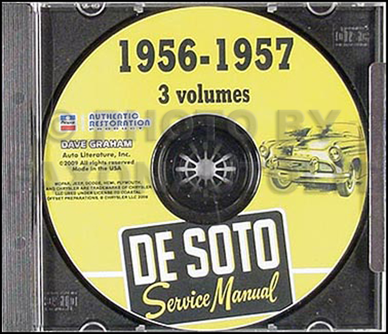 1956-1957 DeSoto Shop Manual on CD