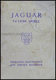 1956-1957 Jaguar 2.4 Litre Original Owner's Manual