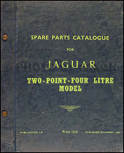 1956-1957 Jaguar 2.4 Litre Parts Book Original