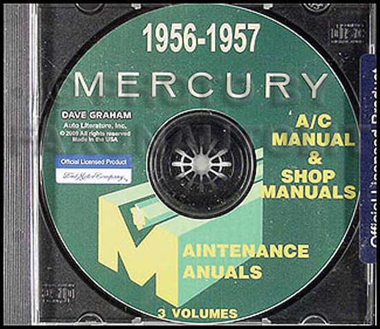 CD-ROM 1956-1957 Mercury Shop Manual Set