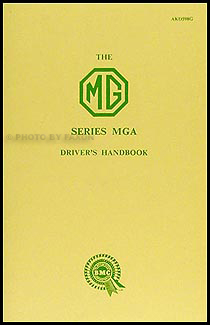 1956-1959 MGA 1500 Owner's Manual Reprint