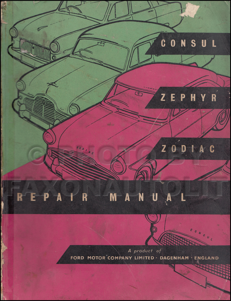 1951-1960 Ford Repair Shop Manual Original Consul Zephyr Zodiac