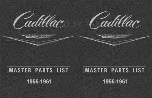 1956-1961 Cadillac Master Parts and Accessories Book Reprint