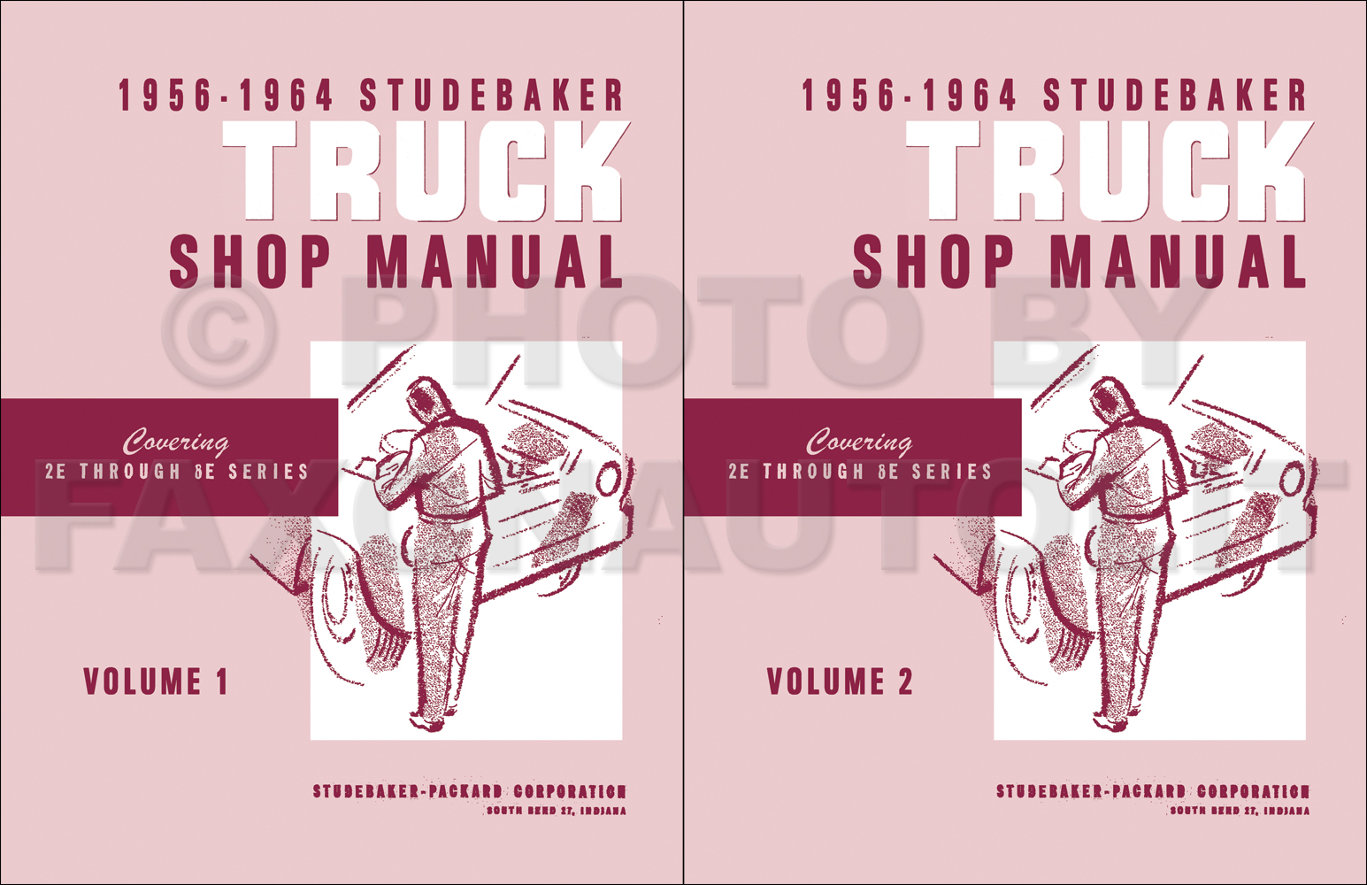1956-1964 Studebaker Pickup Truck Repair Shop Manual Reprint 2 Volume Set