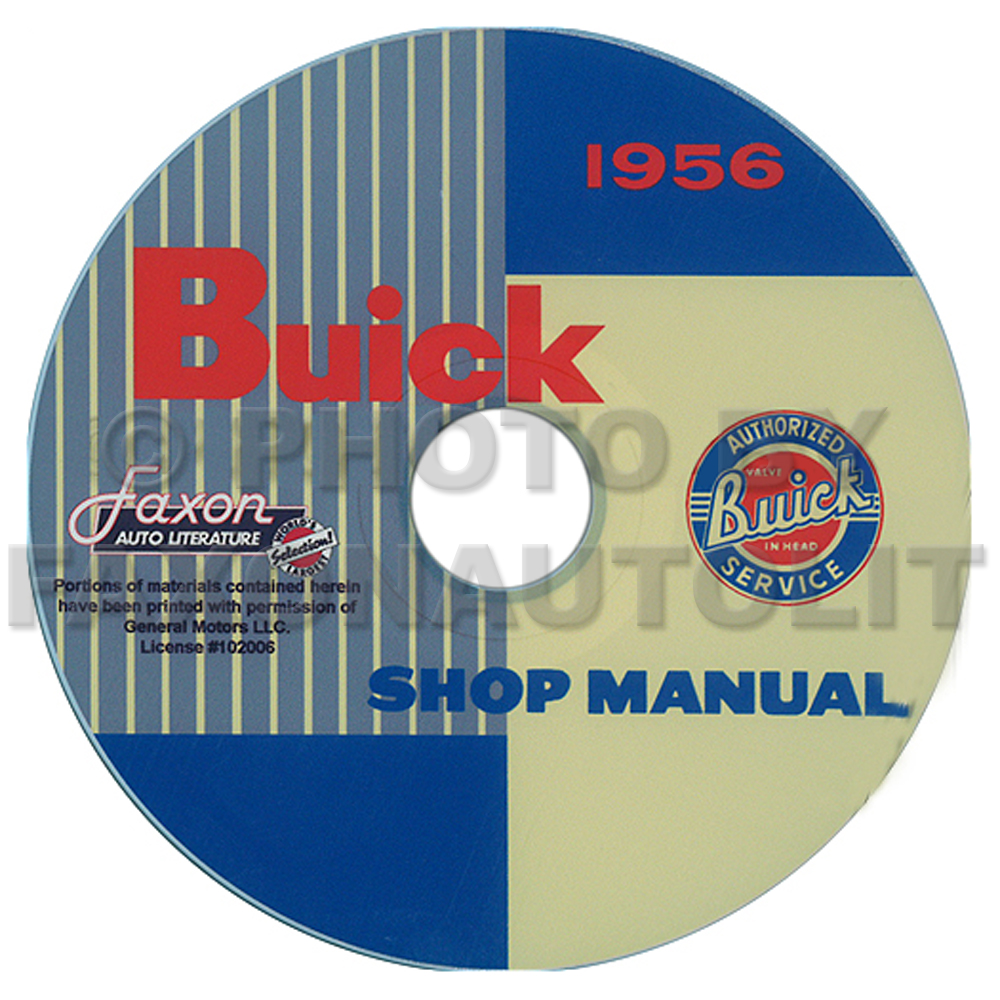 1956 Buick Repair Shop Manual on CD-ROM