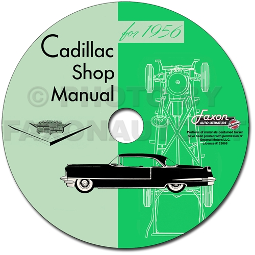 1956 Cadillac Shop Manual on CD-ROM for all models 56