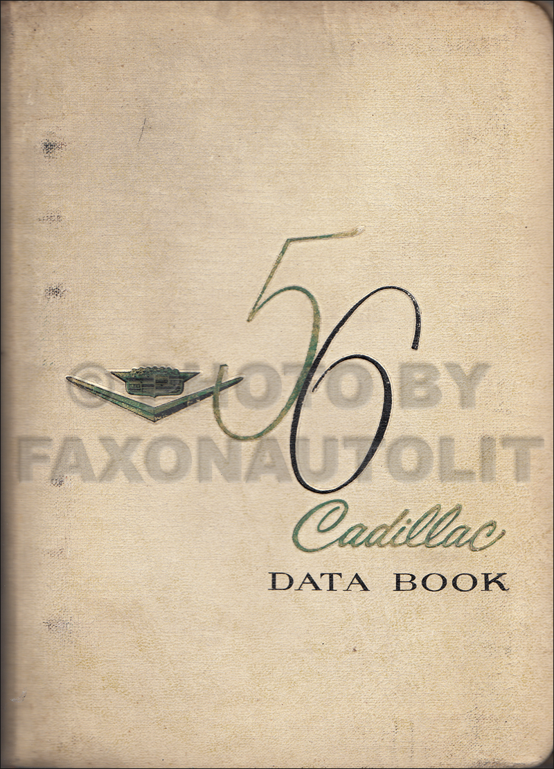 1956 Cadillac Data Book Original