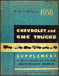 1956 Chevy Truck & GMC CANADIAN Shop Manual Original Supplement
