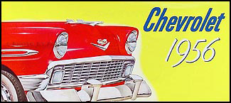 1956 Chevrolet Car Color Sales Folder Reprint for All Models