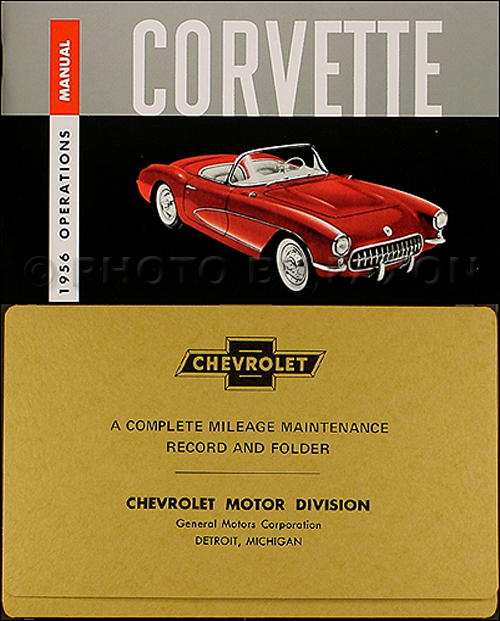 1956 Corvette Owner's Manual Reprint Package
