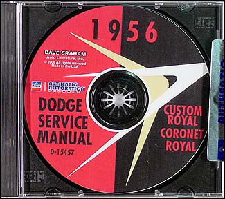 1956 Dodge Car CD-ROM Shop Manual