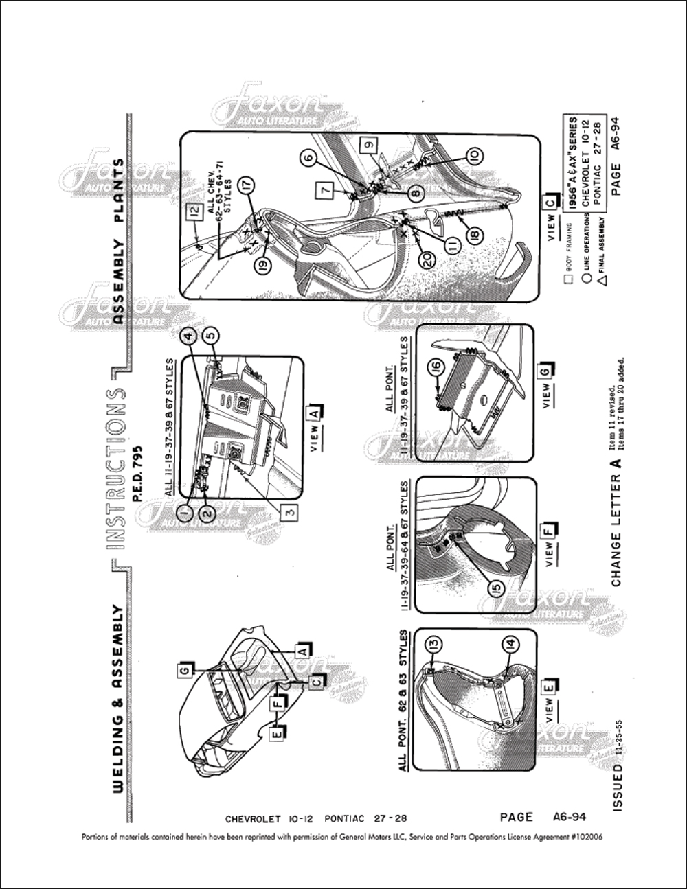 1956 chevrolet pontiac fisher body welding assembly manual