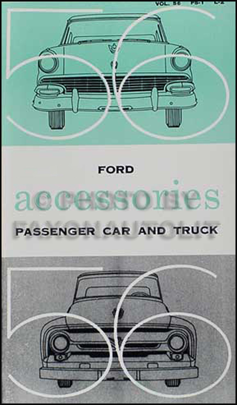 1956 Ford Accessories Reprint Catalog Car Thunderbird Pickup Truck