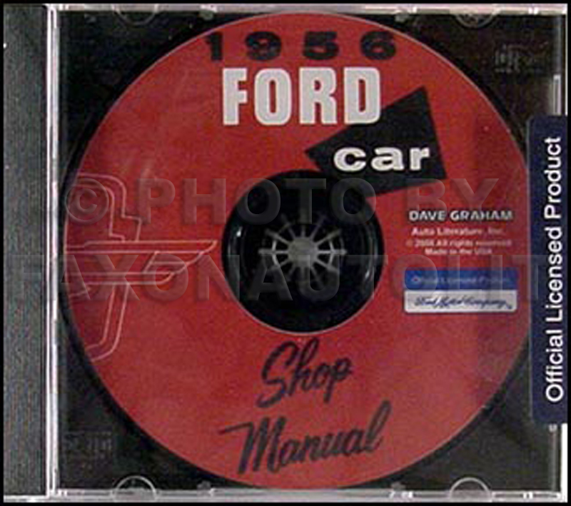 1956 Ford Car and Thunderbird CD-ROM Shop Manual