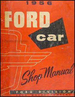 1956 Ford Car & Thunderbird Repair Manual Original