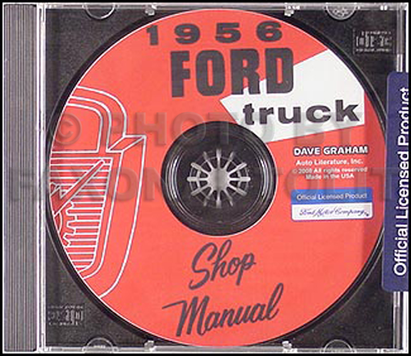 1956 Ford Truck Shop Manual CD-ROM