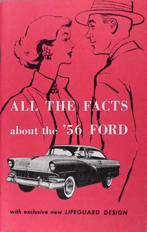 "1956 Ford Options and Specifications Catalog Reprint Car Thunderbird ""All the Facts"""