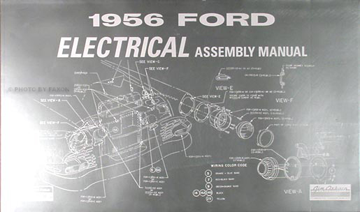1956 ford car \u0026 thunderbird wiring diagram manual reprint 1970 Mercury Cougar Wiring Diagram