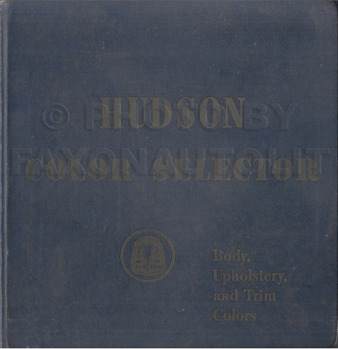 1956 Hudson Color & Upholstery Album Original