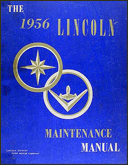 1956 Lincoln Capri & Premiere Shop Manual Original