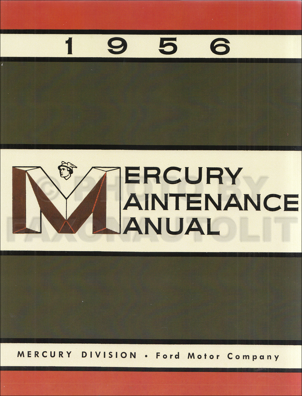 1956 Mercury Reprint Repair Manual