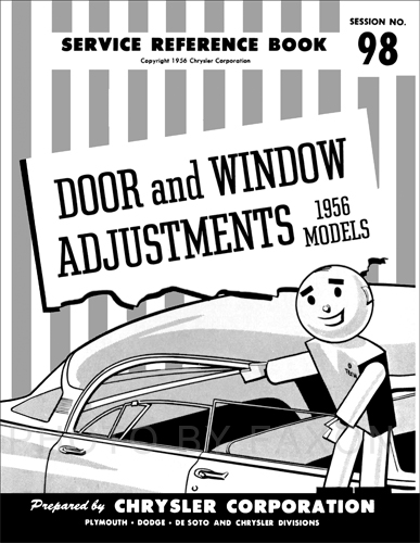 1956 MoPar 4 Door and Window Adjustment Manual Reprint