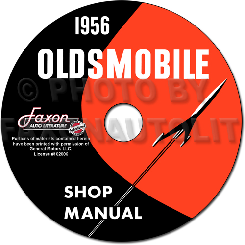 1956 Oldsmobile CD-ROM Shop Manual