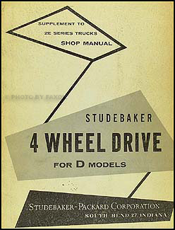 1956 Studebaker 4WD Shop Manual Original Supplement