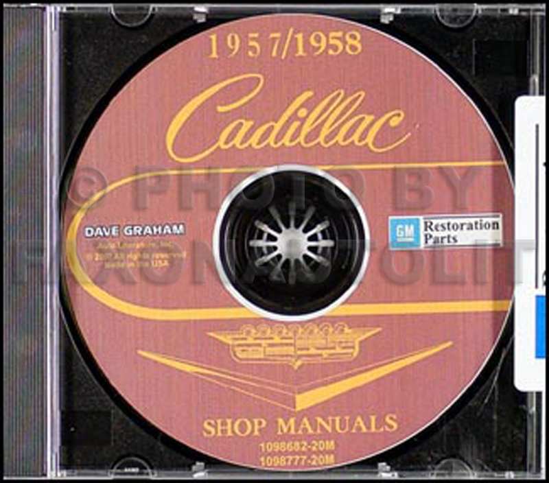 1957-1958 Cadillac Shop Manuals on CD-ROM for all models 57-58