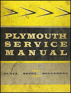 1957-1958 Plymouth Shop Manual Original