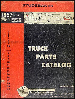 1957-1958 Studebaker Pickup Truck Parts Book Series 3E Original