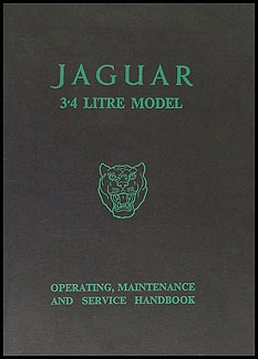 1957-1959 Jaguar 3.4 Litre Owner's Manual Original Mark 1