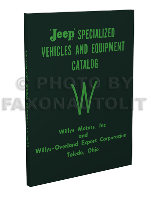 1957-1959 Jeep Special Equipment Catalog Reprint