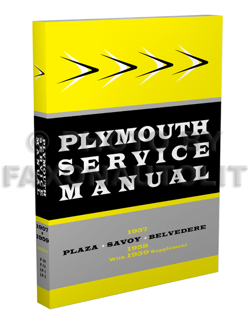 1957-1959 Plymouth Shop Manual Reprint