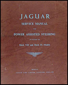 1957-1961 Jaguar Mark VIII IX Power Steering Repair Shop Manual Original