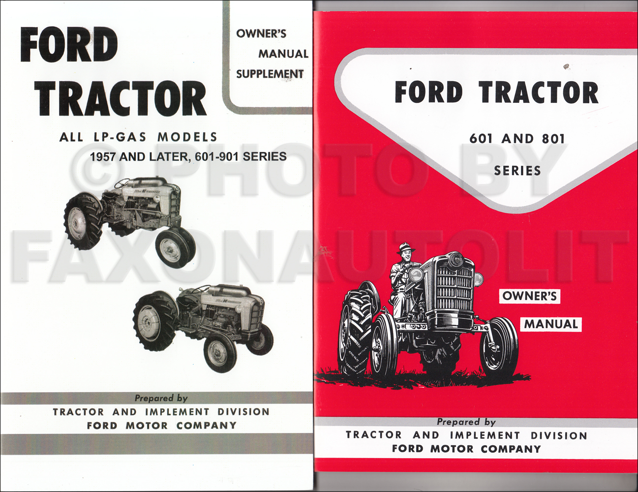 1957-1962 Ford 601 & 801 Series Tractor LP-Gas Owner's Manual Set Reprint