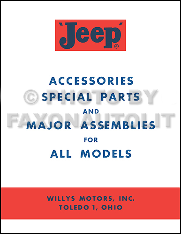 1957-1962 Jeep Accessory Manual Reprint All Models