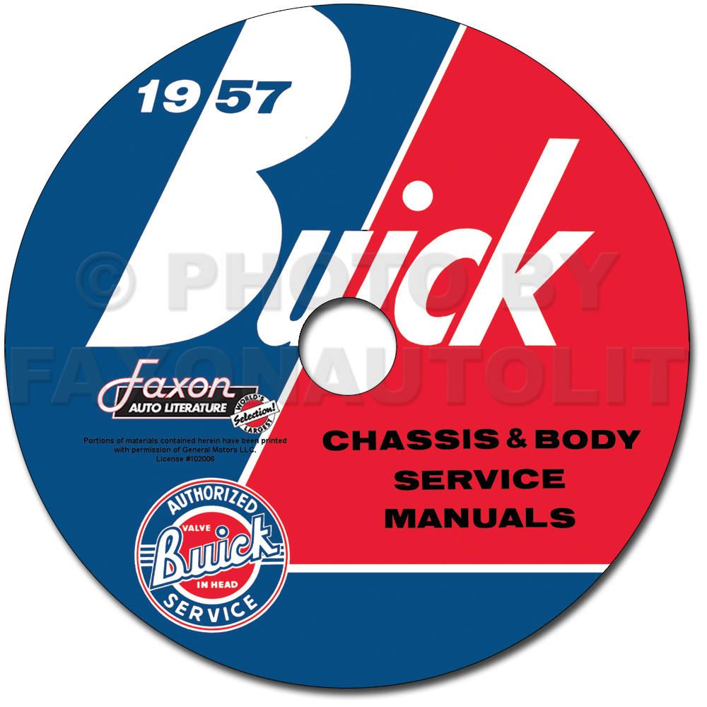 1957 Buick CD-ROM Shop Manual & Body Manual